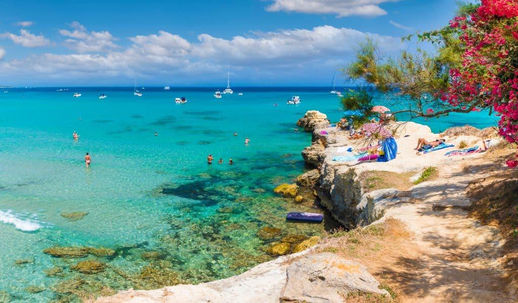 Baia dei Turchi beach, Puglia, Italy