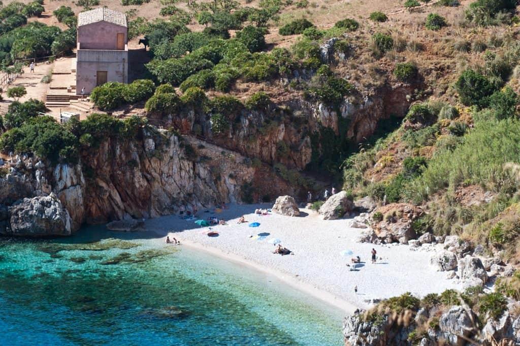 Cala Tonnarella beach, Sicily, Italy