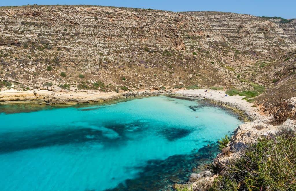Cala Pulcino beach, Lampedusa, Italy