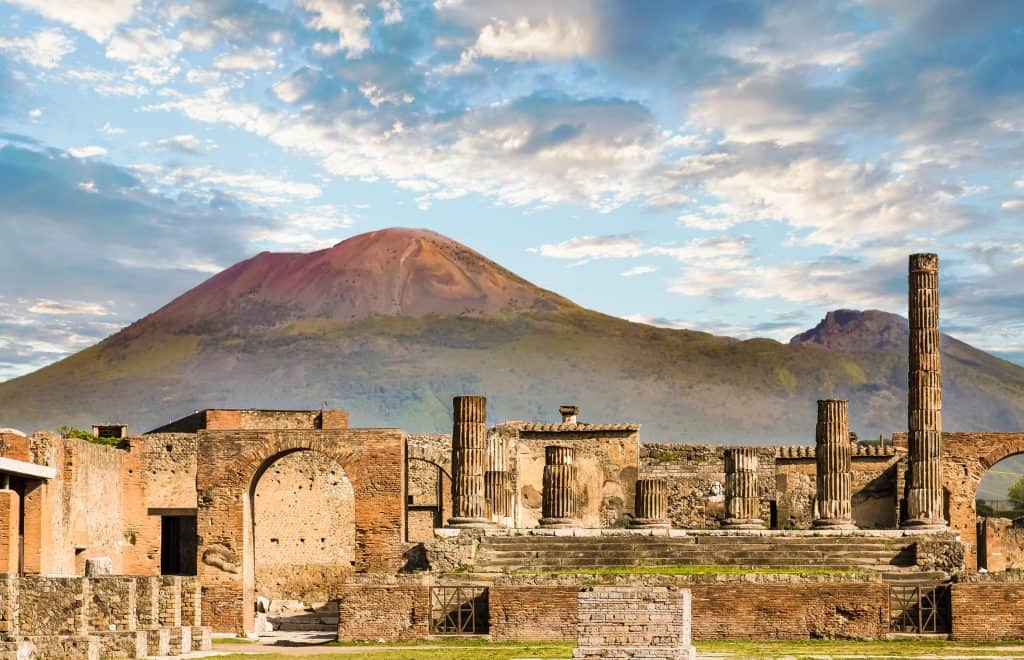 City of Pompei, Vesuvius, Italy