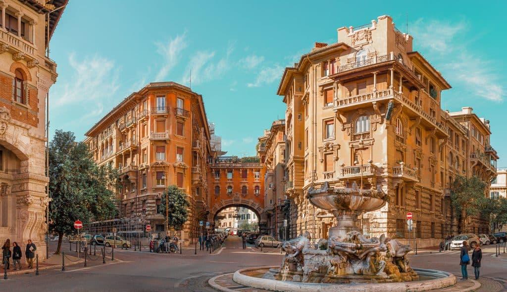 Coppedè District, architecture, Rome, Italy