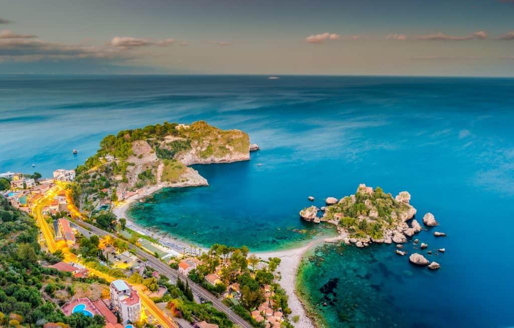 Isola Bella beach, Sicily island, Italy