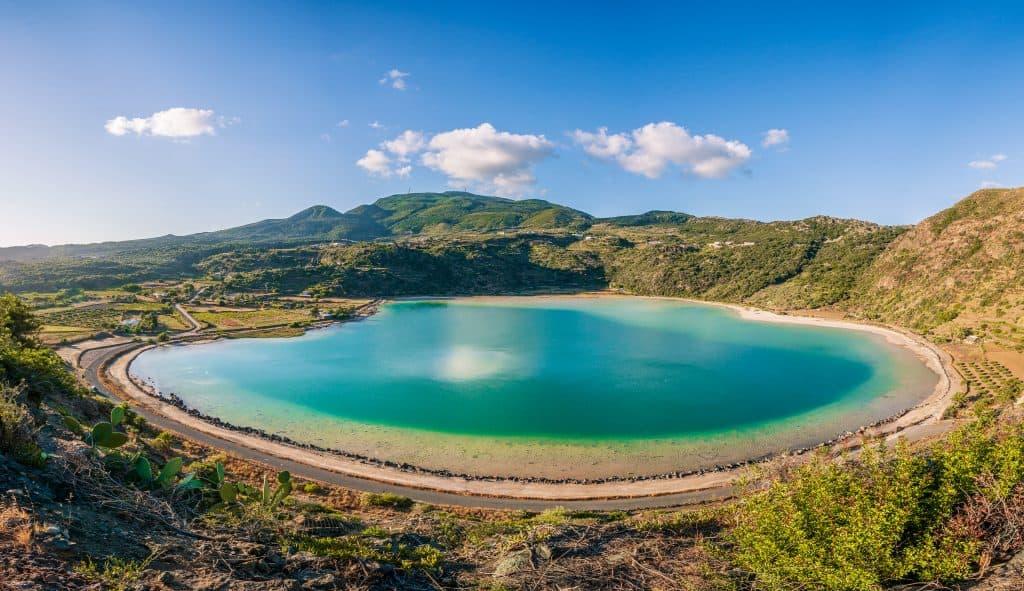 Pantelleria Island, volcanic thermal lake, Sicily, Italy