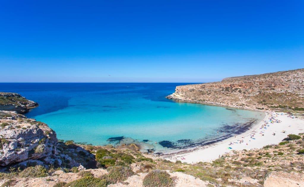 Spiaggia dei Conigli beach, Lampedusa, Italy