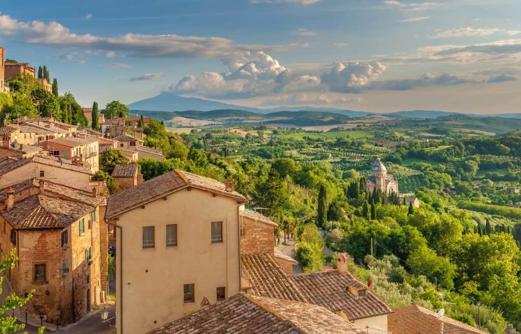 The walls of Montepulciano, Tuscany, Italy