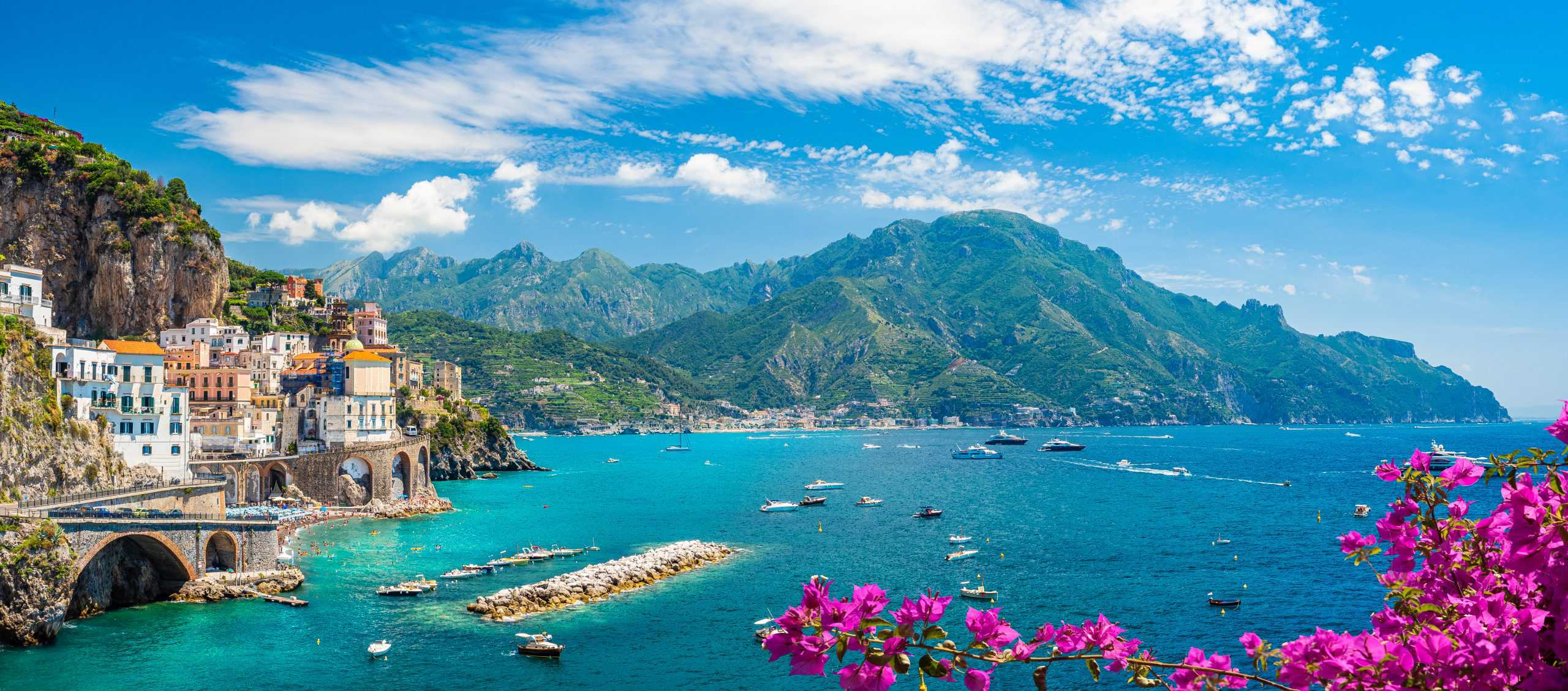 Panorama of Amalfi Coast in September, best time to visit