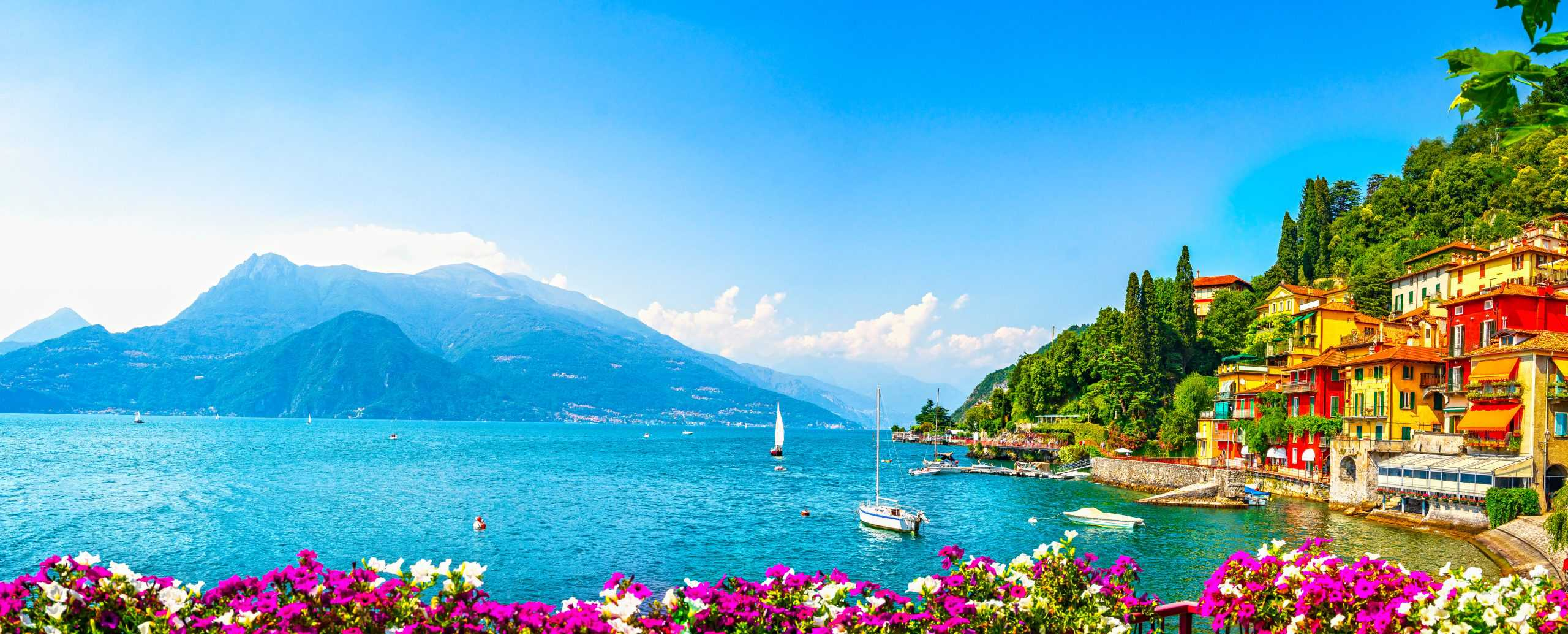 Panorama of Lake Como during the summer, the best time of year to visit