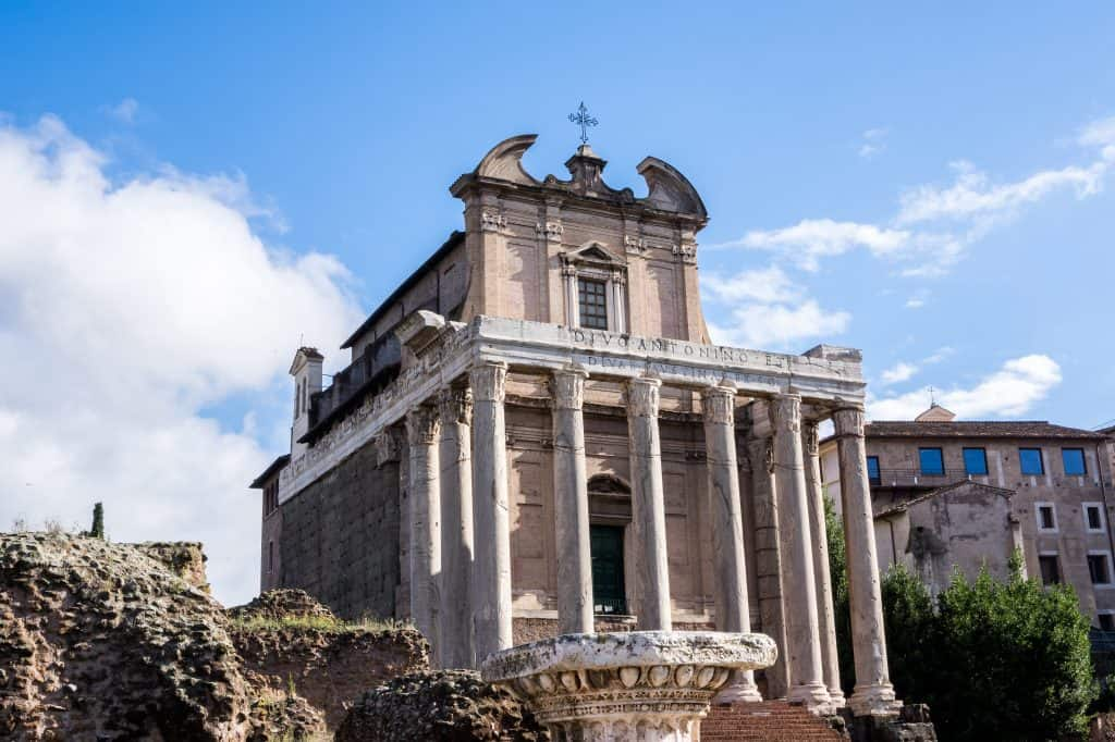 Temple of Antoninus and Faustina, Roman Forum, Rome, Italy
