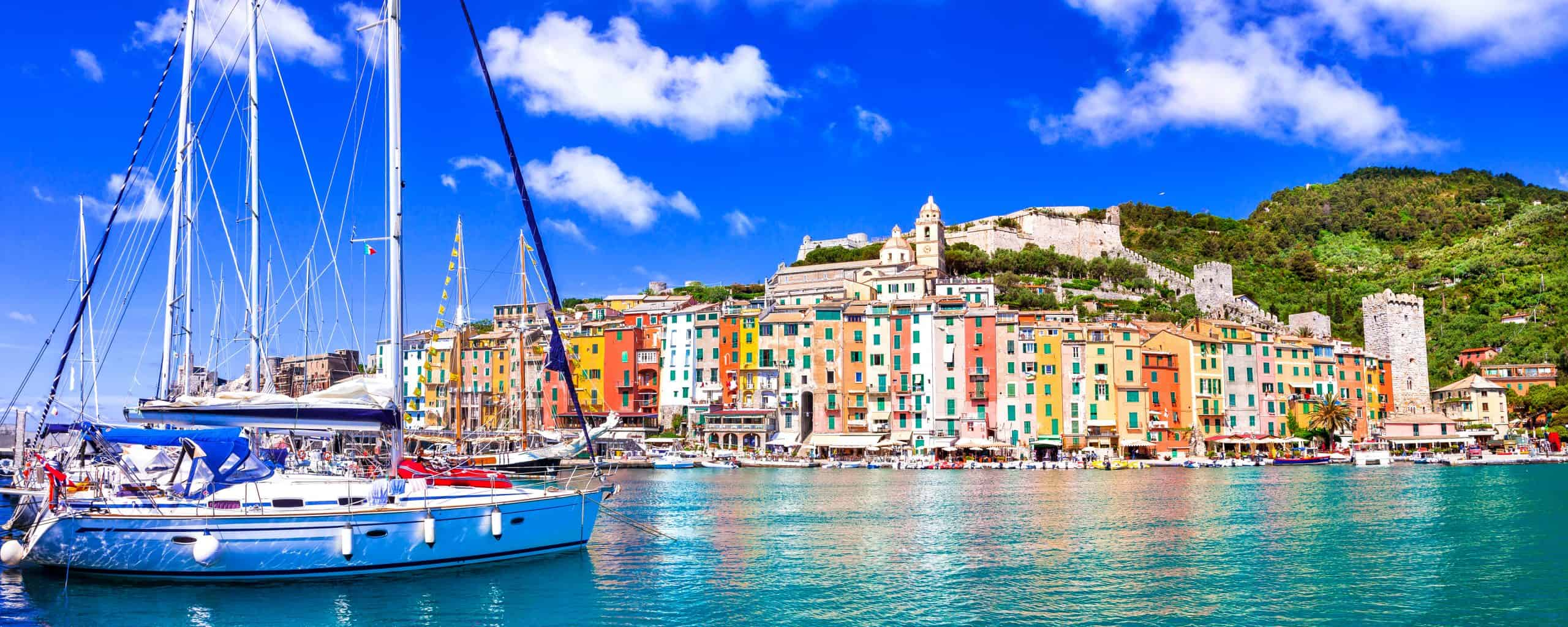Town of Portovenere, and Cinque Terre natural park, Italy